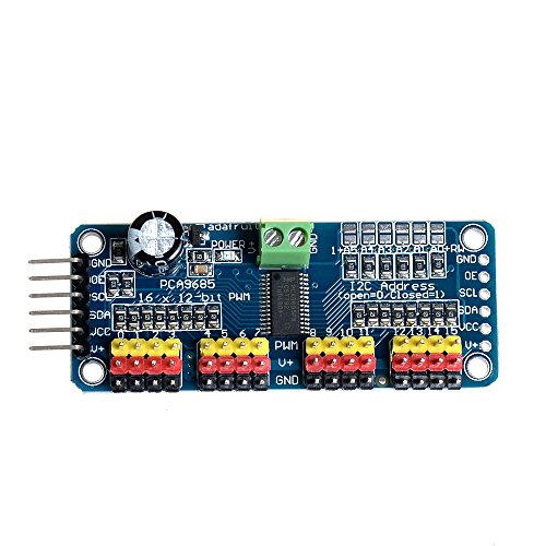 Anmbest 16 Channel 12 Bit PWM Servo Motor Driver IIC Interface PCA9685 for Arduino Robot Raspberry Pi DIY Servo Shield Module