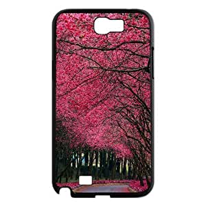 Tyquin blooming trees alley Samsung Galaxy Note 2 Case, Case For Samsung Galaxy Note 2 Luxury {Black}