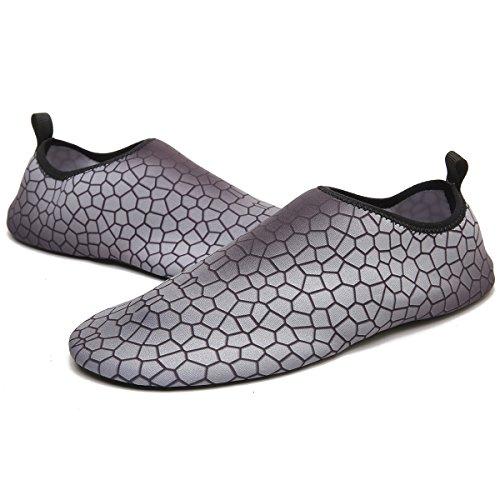 Shoes Pool Swim Deep Grey Yoga Beach Outdoor Lingmao Barefoot Water Aqua Quick For Socks dry on Slip Women Skin qnnTZUI