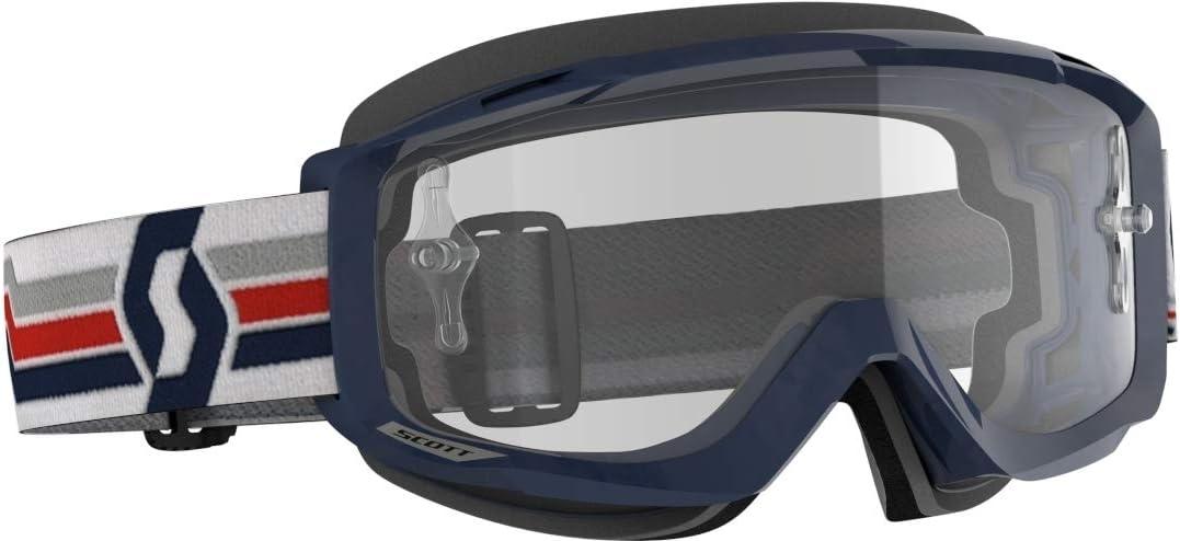 Scott Split OTG MX Goggle Cross//MTB Brille blau//wei/ß//klar Works