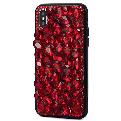 Bling Crystal - iPhone Xs Max Crystal Diamond Case,iPhone Xs Max Bling Rhinestone Case,FreeAir 3D Handmade Crystal Bling Diamonds Shiny Rhinestone Red Drip Soft Case for iPhone Xs Max (6.5 inch)