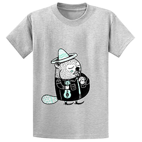 B Is For Beaver Girls Crew Neck Personalized Shirts Grey - Lego Frank Rock