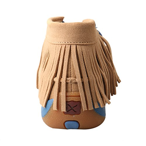 Twisted X Women's Leather Lace-up Rubber Sole Driving Moccasins - Serape/Fringe by Twisted X (Image #4)