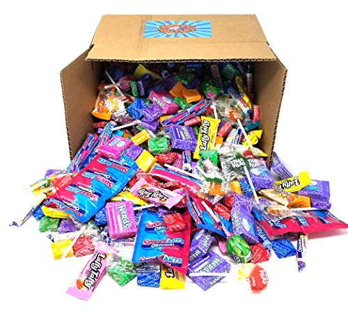 Favorit Brands Candy Assortment Variety Party Mix - Gobstoppers, SweeTarts, Now and Later, Laffy Taffy Fun Size, Jolly Rancher Lollipops, Tiger Pops, Nerds Mini Box - Bulk Pack Box, 5 lbs