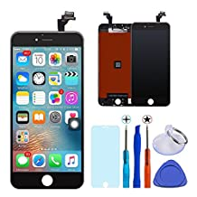 KAICEN iphone 6 lcd touch Screen Replacement LCD Display Digitizer Frame Assembly Full Set with Tools and Toughened glass protective film 4.7 inches (Black)
