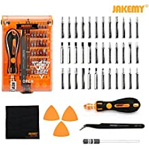 Screwdriver Set, Precision Screwdriver Kit, JAKEMY 36 Magnetic Driver Bits,Repair Tool Kit, All in One with Opening Tool and Tweezer for iphone X/8/7, Plus, Cellphone, Macbook, Laptop, PC