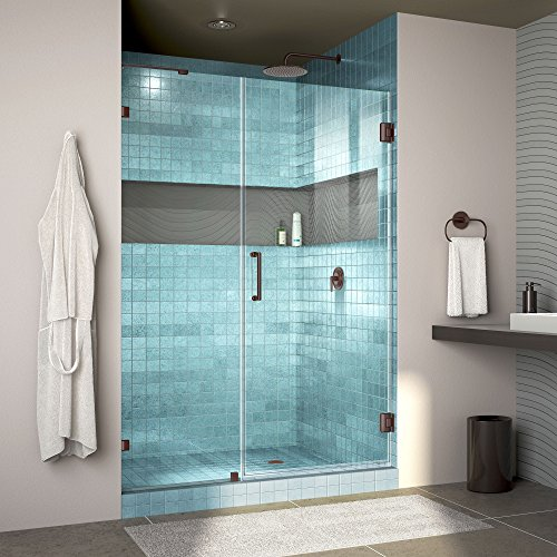 [DreamLine Unidoor Lux 48 in. Width, Frameless Hinged Shower Door, 3/8