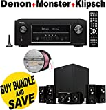 Denon AVR-S910W 7.2 Full 4K Ultra HD Channel Receiver With Bluetooth/HDCP2.2 + Klipsch HDT-600 Home Theater System Bundle