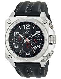 Joshua & Sons Men's JS48RD Analog Display Japanese Quartz Black Watch