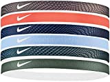 Nike Swoosh Sport Headbands 6pk (One Size Fits Most, Black/White)