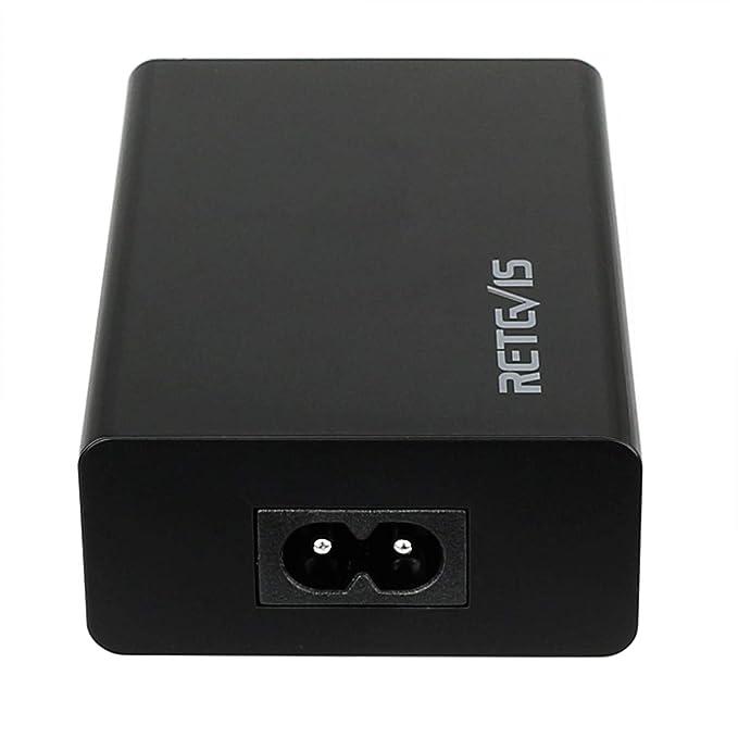 Retevis Cargador con 5 USB Puertos 40W 8A Compatible con ...