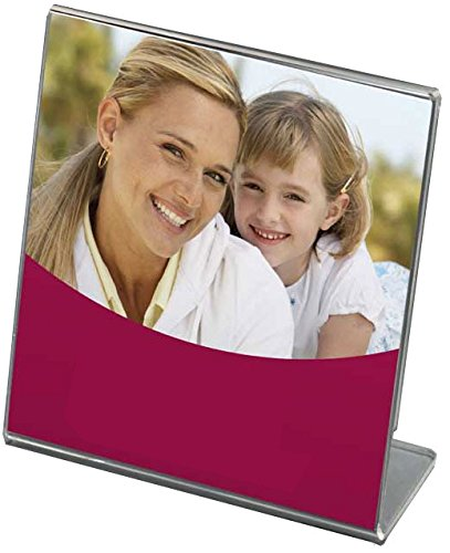 Bent Acrylic Vertical Frame (Bent Acrylic Frame 5x5 Single Vertical)