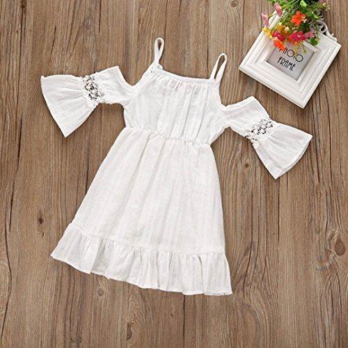 El servicio durable BBsmile Vestidos de Fiesta para Boda Ceremonia Bautizo  con Sombrero para Bebés Niñas 78aec94c0ec