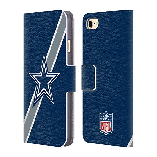 Official NFL Stripes Dallas Cowboys Logo Leather Book Wallet Case Cover For Apple iPhone 7 - Dallas Cowboys Wallet Leather