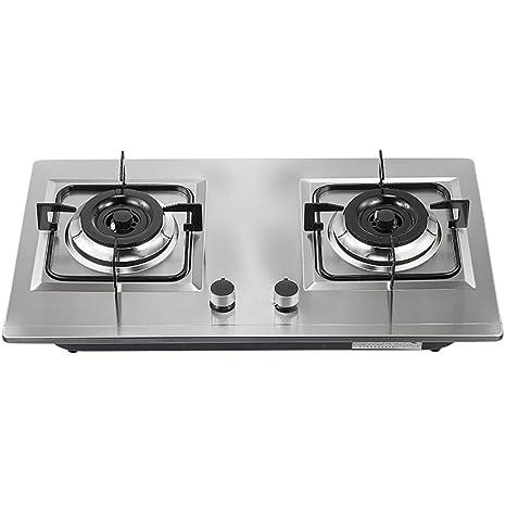 LQ-Hornillo Placas de Cocina de Gas, Cocina de 2 quemadores ...
