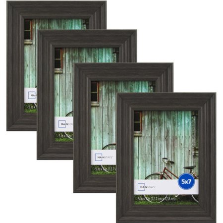 Mainstays Vintage French 5 x 7 Picture Frame Grey Set of 4 WLM