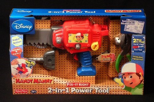 Fisher-Price Handy Manny Fix-It Right 2-In-1 Power Tool