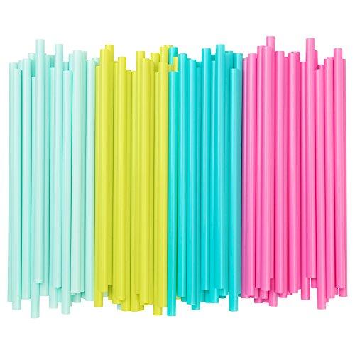 IKEA - Lot de 100pailles (8mm de diamètre)–En rose clair, vert clair, bleu clair (mélange)