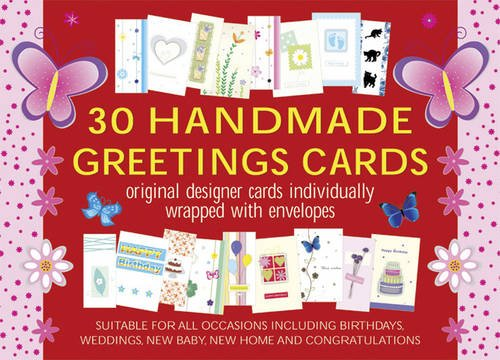 30 Handmade Greetings Cards (Red/Pink Box): Original Designer Cards Individually Warpped With Envelopes (Boxed Set) ()