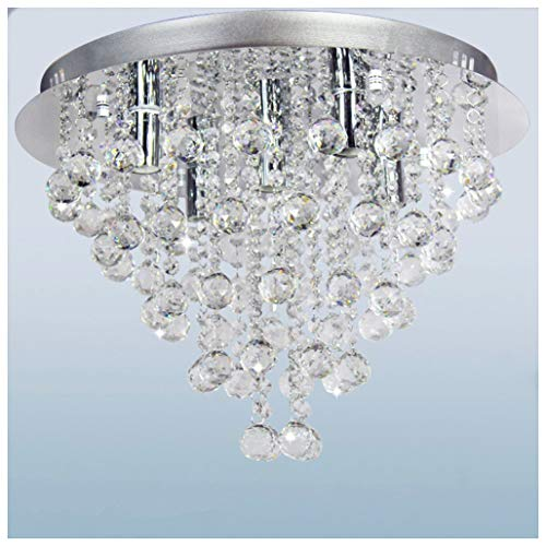 Dst Modern Round Rain Drop Chandelier Crystal Ceiling Light Lamp D18h13