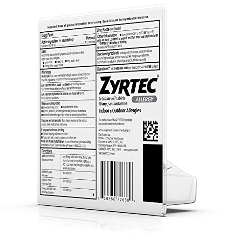 Zyrtec Allergy Relief Tablets, 45 Count