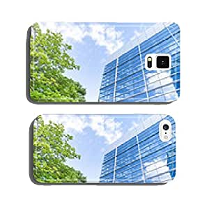 Glass facade - modern building and tree cell phone cover case Samsung S5