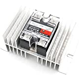 Baomain Resistor Type Soild State Relay SSR-25VA 25A 24-380V AC with Heat Sink