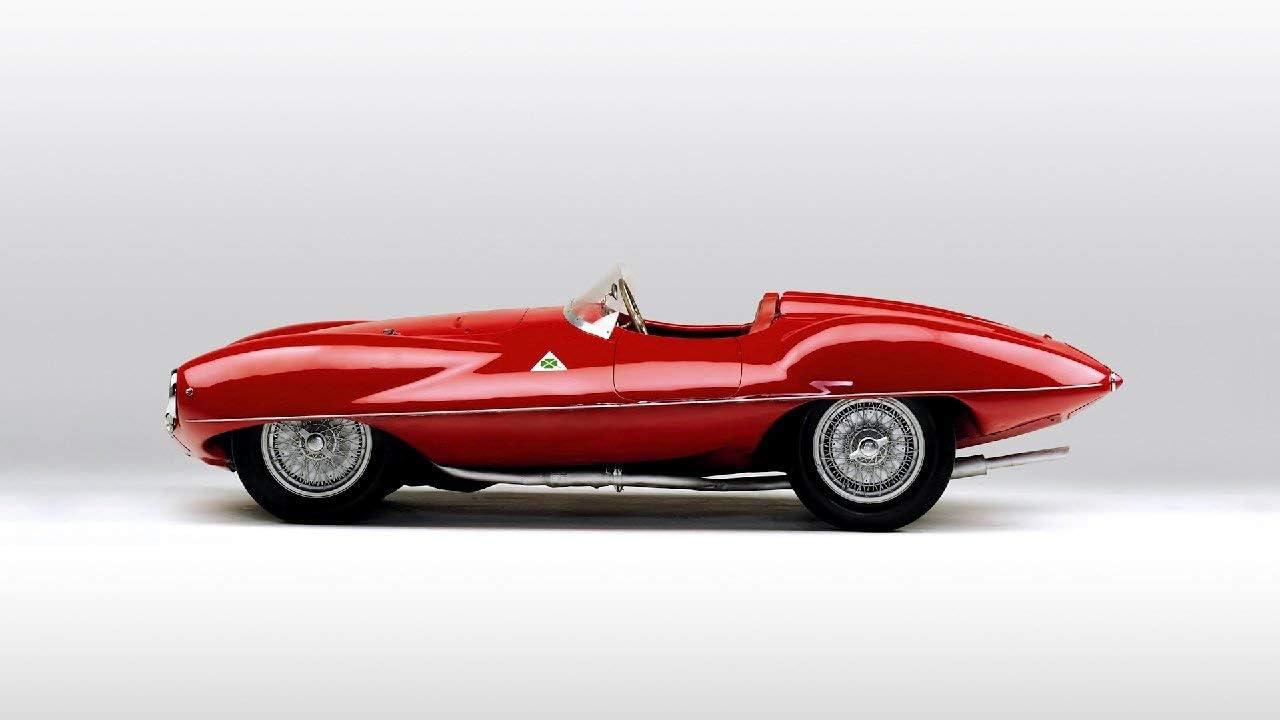 Lilarama USA 1952-Alfa-Romeo-C52-Disco-Volante-Touring-Spider-V2- - Super Car Classic Car - Giant Poster Print - Cool Wall Decor Art Print Poster