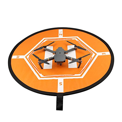 DoGeek Large Drone Landing Pad 31.5inch Portable Foldable for RC Quadcopter Helicopter Helipad DJI Mavic Pro, Inspire Pro 3 2 1, Phantom 4 Pro 4 3 2, Matrice Pro, Spark, (Range Rover Kits)