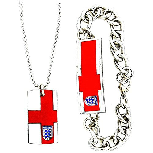 England Men's Metal Dog Tag Necklace 17