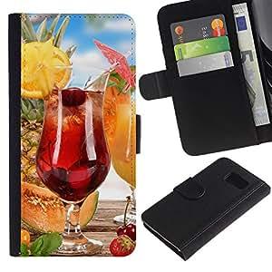 All Phone Most Case / Oferta Especial Cáscara Funda de cuero Monedero Cubierta de proteccion Caso / Wallet Case for Sony Xperia Z3 Compact // Fruit Macro Fruit Cocktail