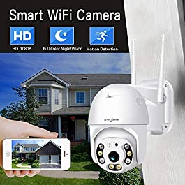 Active Pixel Wireless WiFi IP CCTV Security 1080P 2MP Ptz Outdoor IP66 Waterproof Pan Tilt Speed Dome Home Surveillance Camera with Audio Recording Motion Detection Colorful Night Vision