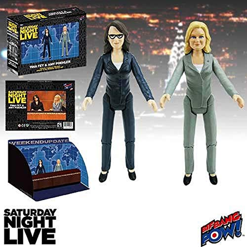 Saturday Night Live Weekend Update Tina Fey & Amy Poehler SNL Action Figures ()