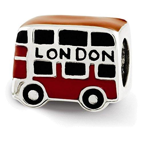 Jewelry Adviser Beads Sterling Silver Reflections Enamel London Double Decker Bus Bead