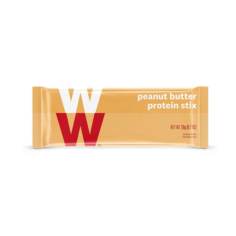 WW Peanut Butter Protein Stix - Gluten-free, High Protein Snack Bar, 2 SmartPoints - 1 Box (24 Count Total) - Weight Watchers Reimagined