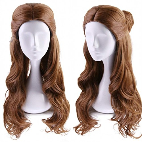 Ani·Lnc Long Wave Brown Movie Costumes Cosplay Wigs for Women Wigs -