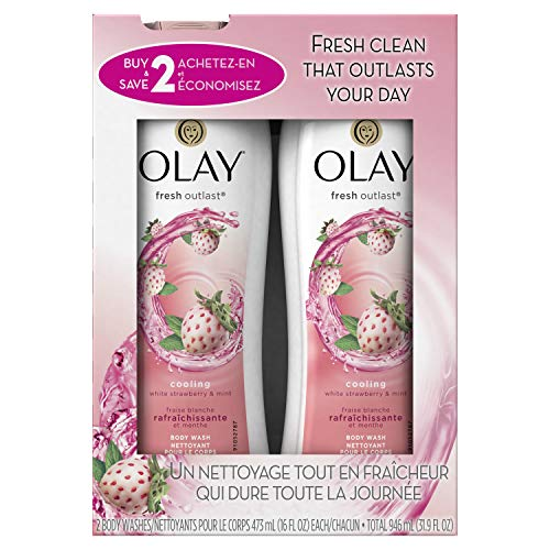 lay Fresh White Strawberry & Mint Body Wash
