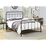 Pulaski Queen Brown Curved All-in-One Metal Bed