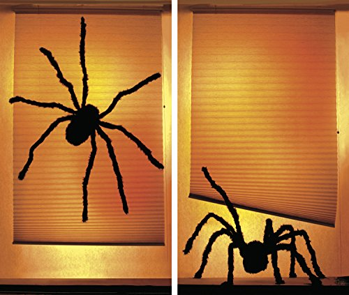 Window Poster Halloween Shady Spiders by WOWindows USA-Made Decoration Includes 2 Reusable 34.5
