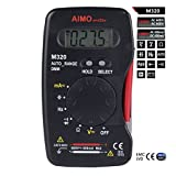 (1 YEAR WARRANTY) AIMO Pocket Size Handheld LCD Digital Multimeter DMM Frequency Capacitance Testers Measurement Data Hold Auto Range AIMO M320