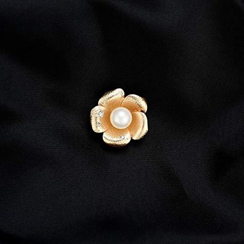 Uzinb Mujeres Flor Zircon Rhinestone Broches Pin ni/ñas Regalo de la joyer/ía de la aleaci/ón de Ropa Decoraci/ón Perla