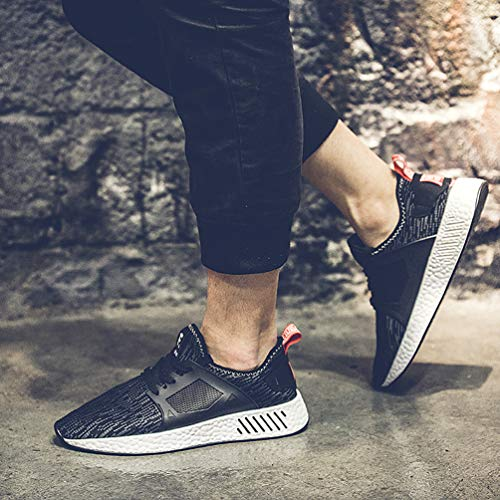 Chaussures Course Sports Casual GUDEER Baskets noir Respirant Homme de Femme X5 Shoes Basses Running Mesh AqdwxR