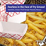 Grease-Proof Sturdy Food Trays 2 lb Capacity 100