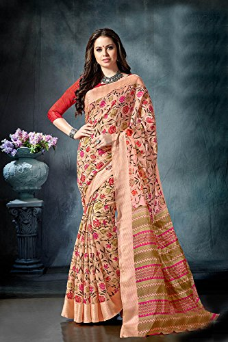 Indian 11 Women Traditional Wedding Sarees Cream for Sari Designer Party Wear Facioun Da p7w5qISA7