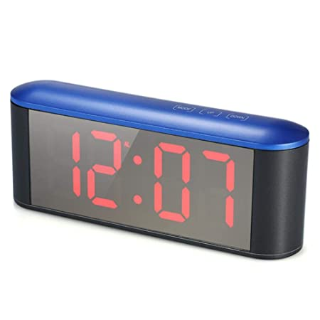 IW.HLMF LED Reloj Despertador Digital Espejo Cable USB ...