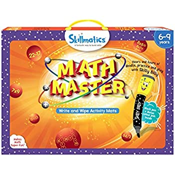 Skillmatics Educational Game : Math Master | Stem Learning | Creative Fun Activities |Gift For Boys and Girls Kids Ages 6 to 9 Year