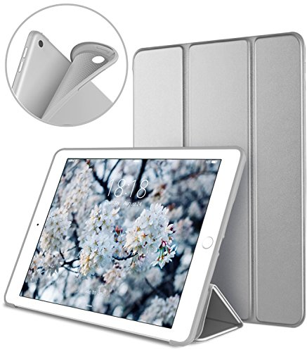 DTTO iPad 9.7 Case 2018 iPad 6th Generation Case / 2017 iPad 5th Generation Case, Slim Fit Lightweight Smart Cover with Soft TPU Back Case for iPad 9.7 2018/2017 [Auto - Case Ipad Apple Smart