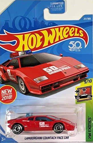 Hot Wheels 2018 50Th Anniversary Hw Exotics Lamborghini Countach Pace Car 217 365  Red