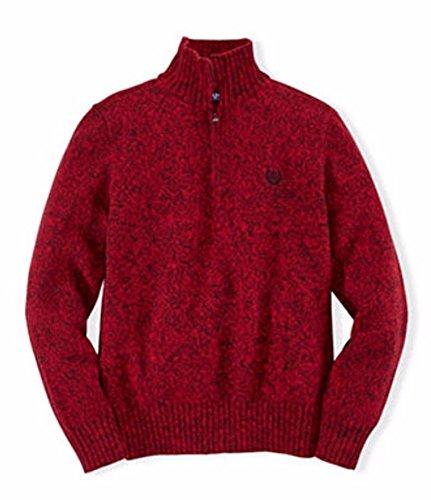 Red Twist Chaps Little Boys Quarter-Zip Mockneck Sweater