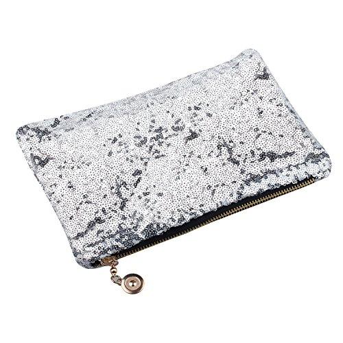 TRIXES-Clutch Bags Silver